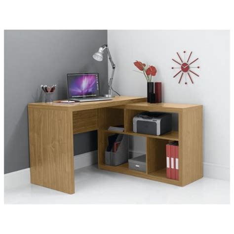 Oak Effect Corner Desk Buy Seattle Corner Desk From Our Office Desks Tables Range Tesco