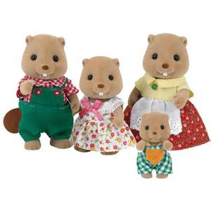 beaver family figures from sylvanian families wwsm