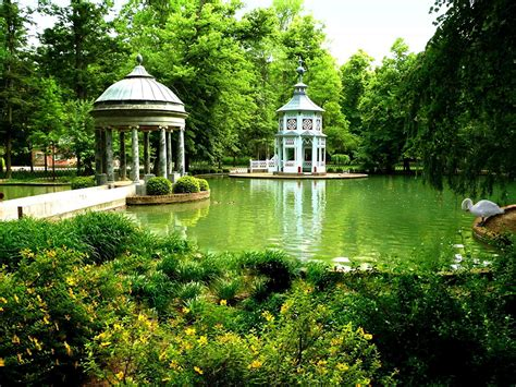 picture madrid spain nature pond parks