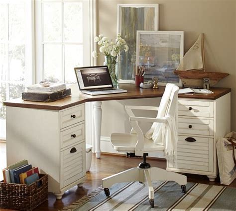 Pottery Barn Office Desk Corner Desk Set Potterybarn Office The White Front Office And Offices