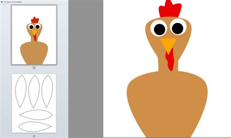 turkey and feather template 5 best images of turkey craft printable template