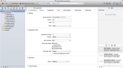 xcode uitableview tutorial tutorial ios criando uma uitableview no xcode 5 usando