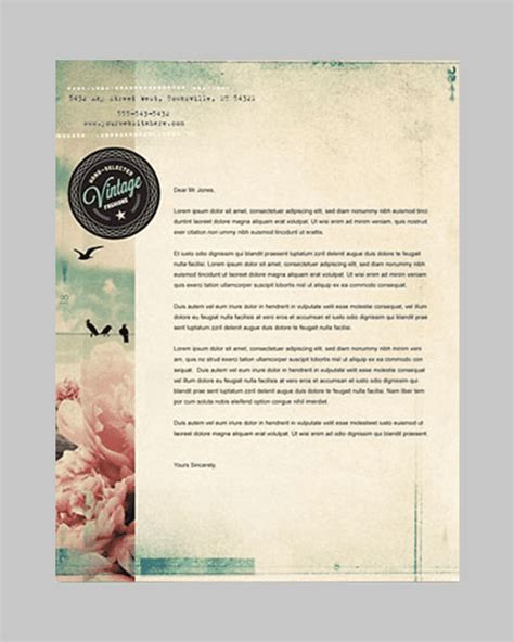 vintage templates for word 31 word letterhead templates free sles exles