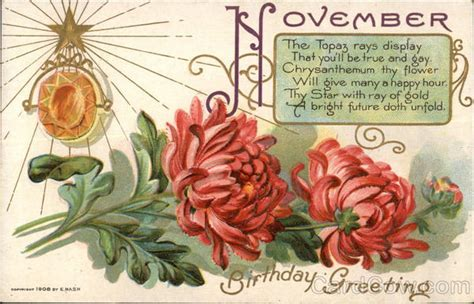 November Birthday Cards November Birthday Greeting Birthday