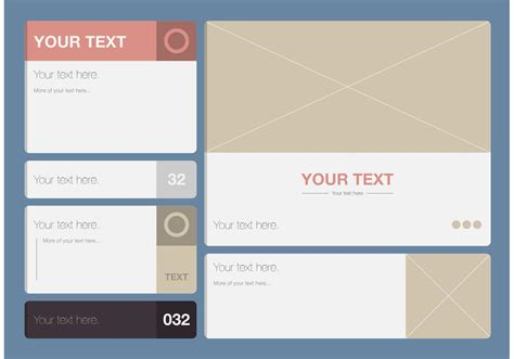 modern text box template vector set download free vector