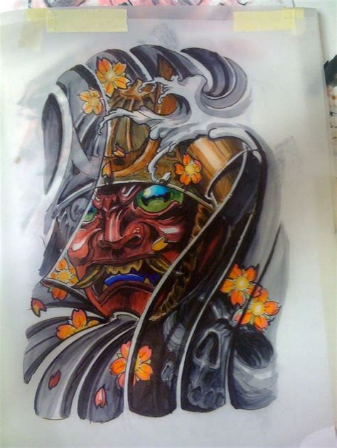traditional japanese samurai tattoo designs samurai mask design of a