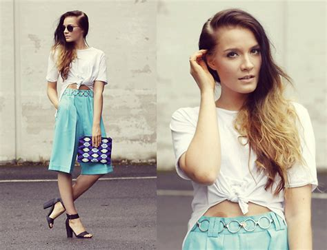Ginar Cullote outi toivola asos thrifted culottes tricot beaded clutch culottes lookbook