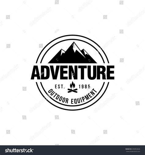 mountain hipster logo template stock vector 335853626