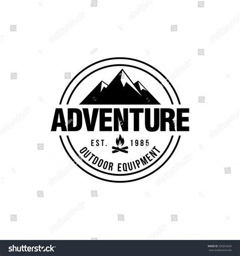 mountain hipster logo template stock vector 335853626