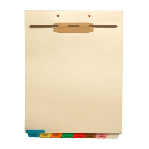 S 9213   Stock Medical Fileback Divider Sets, Bottom Tabs