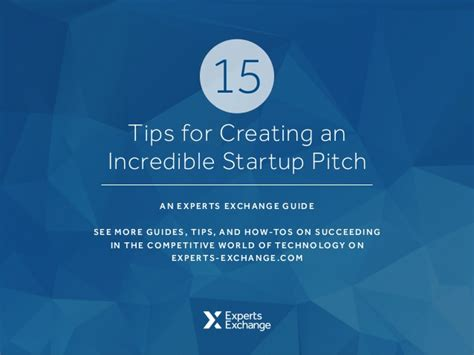 15 tips for creating an startup pitch