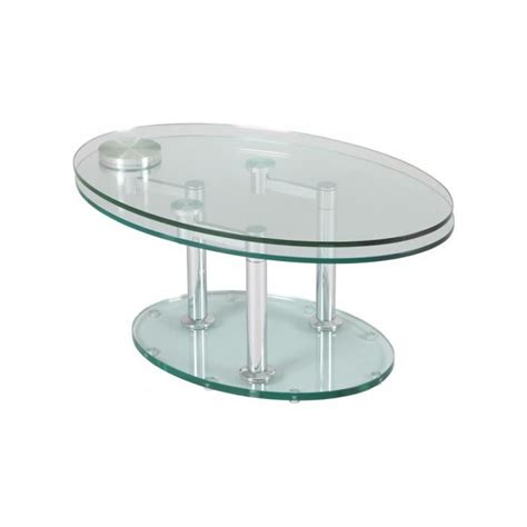 Table Basse Ovale Verre by Table Basse Verre Ovale Articul 233 E Achat Vente Table