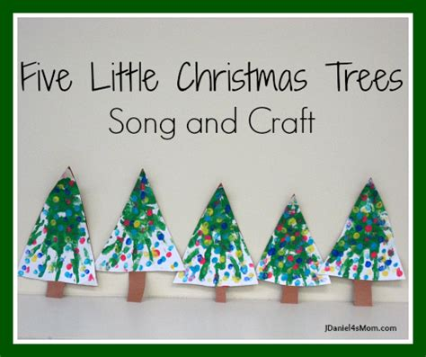 five little christmas trees craft and song jdaniel4s mom