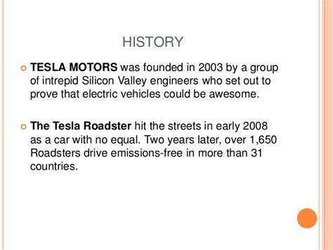 Tesla Motors Description Tesla Motors Ppt