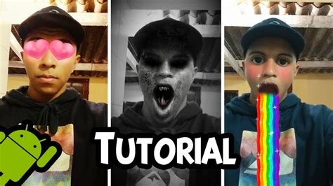 tutorial video snapchat como ativar as lentes animadas do snapchat tutorial