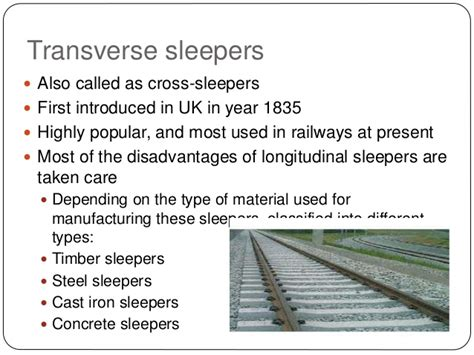 Called Sleepers Railway Failure And Its Type