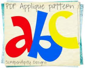 alphabet applique template quilt by scrapendipity craftsy