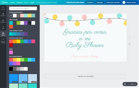Etiquetas Para Baby Shower dise 241 a etiquetas para baby shower gratis canva
