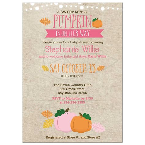 Autumn Baby Shower Invitations by Autumn Baby Shower Invitations Wedding