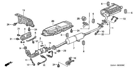2003 honda crv parts diagram honda store 2003 crv exhaust pipe muffler parts