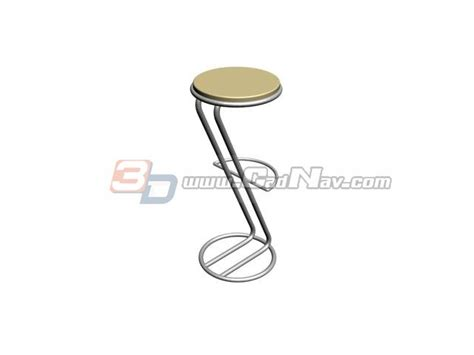 portable bar stool 3d model 3dmax files free