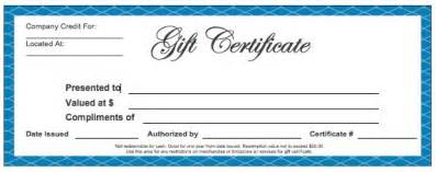 microsoft word gift certificate template free blank gift certificate templates wikidownload