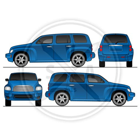 Hhr Van Wrap Design Template Stock Vector Art Wrap Design Template