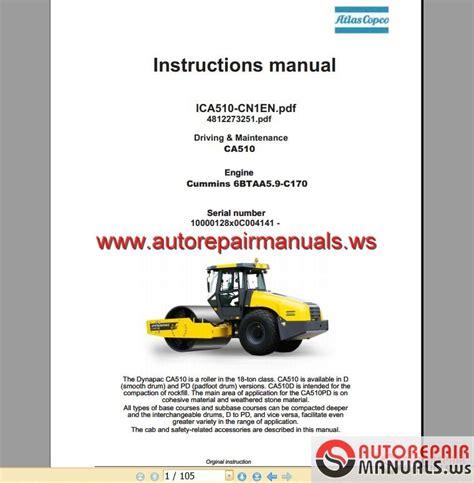 dynapac vibratory roller ca driving maintenance