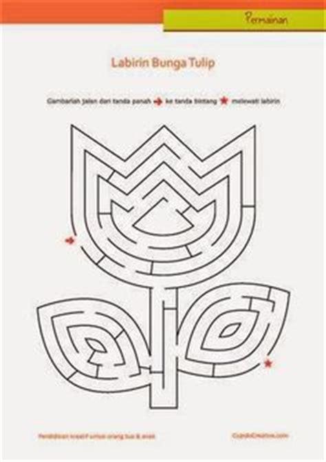 Maze Bentuk permainan anak untuk paud balita tk gambar labirin maze