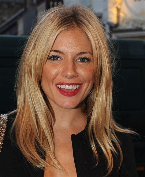 grown out blonde hairstyle sienna miller grown out fringe hair pinterest blonde