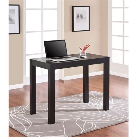 parsons desk with drawer altra furniture parsons desk with drawer in black oak