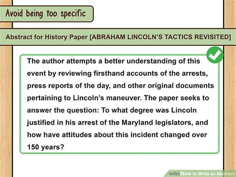 how to write abstract for paper presentation how to write an abstract with exles wikihow