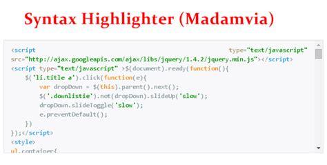 1 syntax syntax dibawah ini adalahuntuk membuat database cara membuat syntax highlighter kotak script madamvia