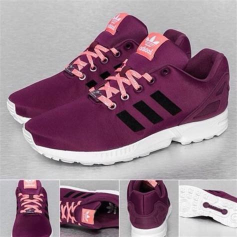 shoes purple stripes pink black adidas wheretoget