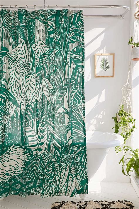 Tropical Print Curtains Best 25 Tropical Shower Curtains Ideas On Tropical Bathroom Tropical Shower