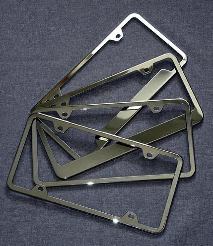 Frame Lf 2187 Pg polished license plate frames