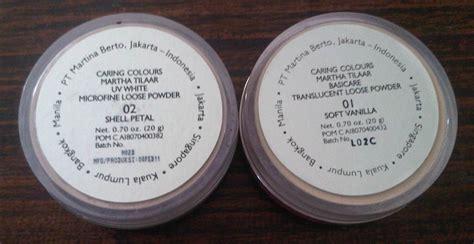 Bedak Wardah Nomor 2 racun warna warni caring powder basicare translucent uv white microfine