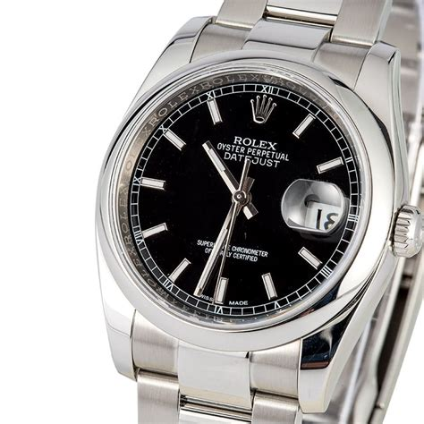 Rolex Datejust Silver Black Matic rolex datejust 116200 black