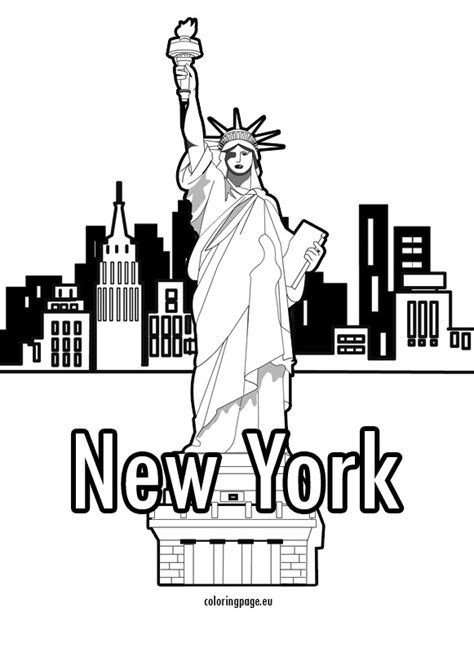 coloring page new york coloring new york postcards coloring pages
