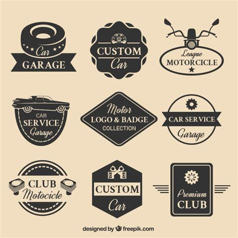 motors logo collection of nine motor logos vector free