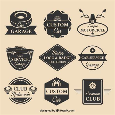 motors logo collection of nine motor logos vector free