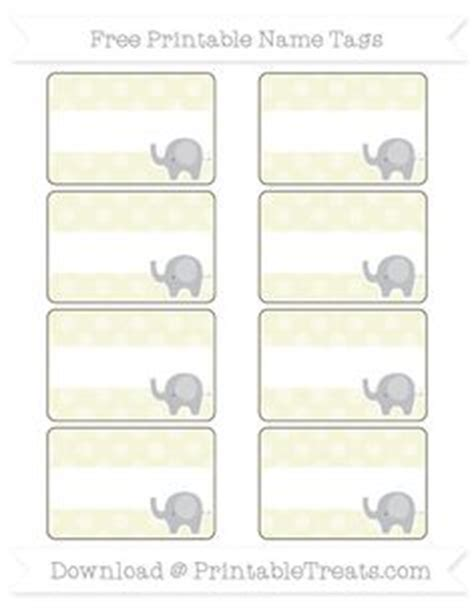 printable elephant name tags free dodger blue dotted pattern elephant name tags