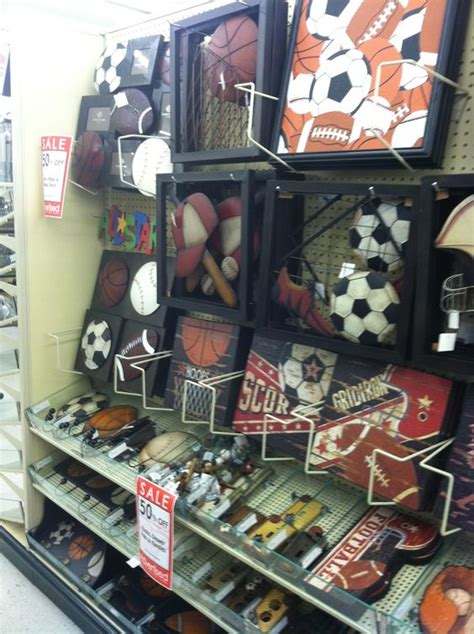 bathroom sports decor guess ill be checking hobby lobby sport decor from