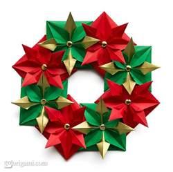 origami wreath origami go origami
