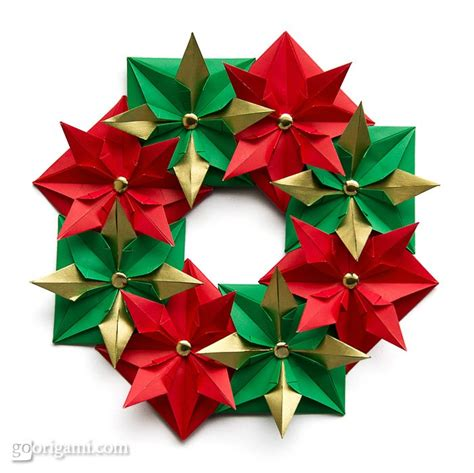 How To Make A Origami Wreath - origami wreath origami go origami