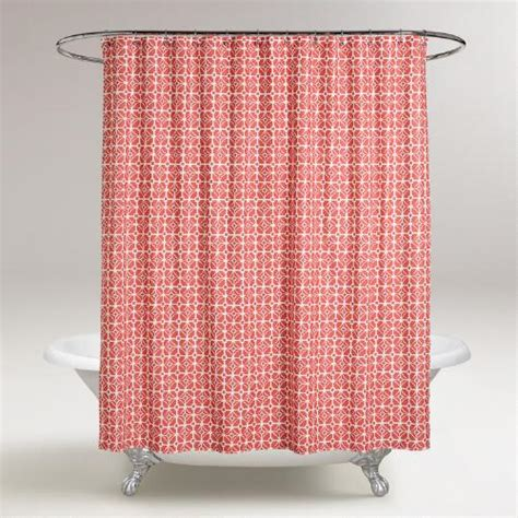 shower curtain coral coral geo shower curtain world market