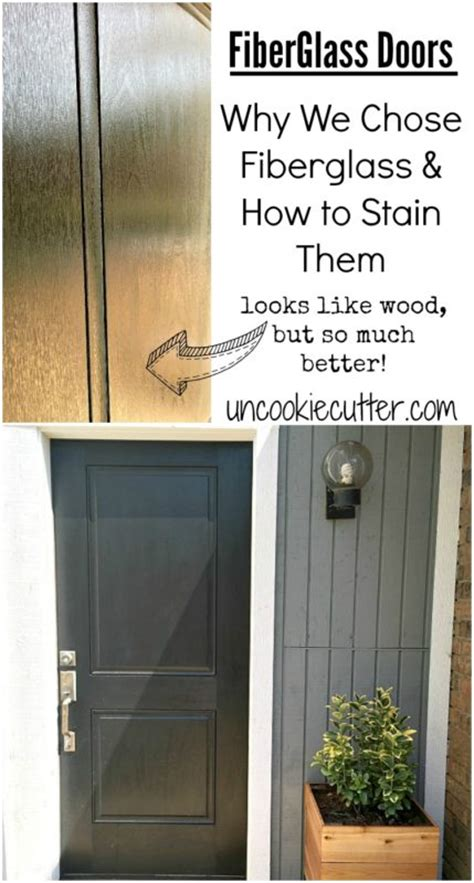 How To Stain Fiberglass Door by Fiberglass Doors Why I Picked It And How To Stain
