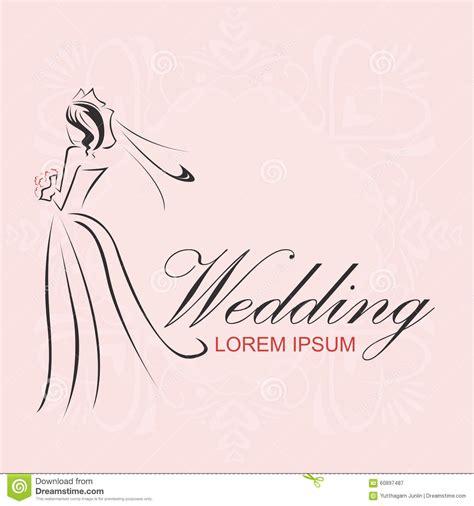 wedding logo vector wedding logo stock vector image 60897487