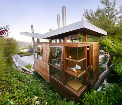 Backyard Treehouses by Amazing Office And Recreational Getaway In The Backyard