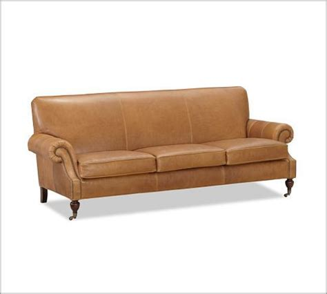 brooklyn leather sofa brooklyn leather sofa pottery barn for the home